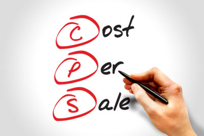 CPS - Cost Per Sale acronym business concept